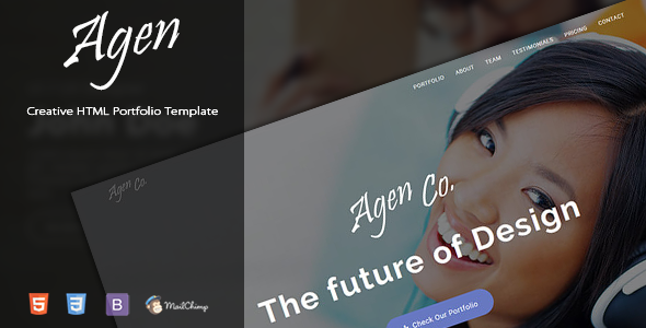 Agen – One Page Creative Portfolio