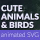 Cute Animals and Birds SVG Animation - CodeCanyon Item for Sale