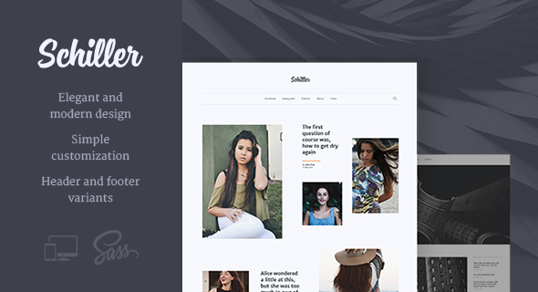 Schiller – Personal Blog Theme - Blog / Magazine WordPress