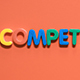 "Word ""Competition"", From Colored Letters - VideoHive Item for Sale"