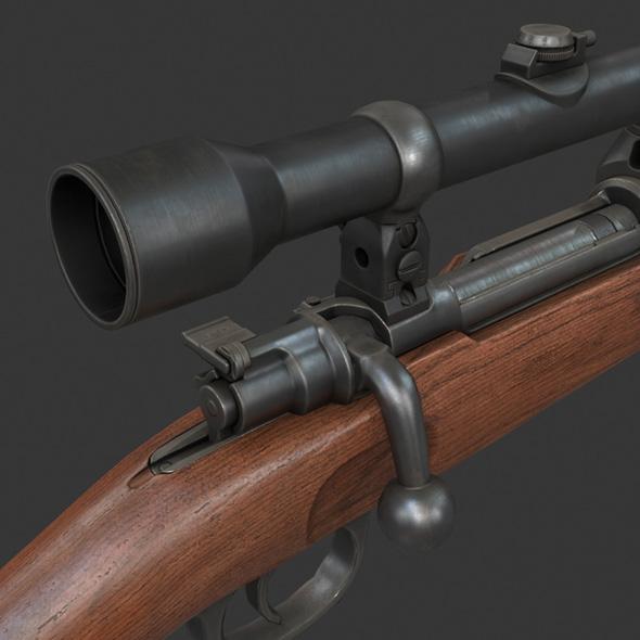 Karabiner 98k - 3DOcean Item for Sale