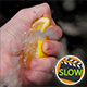 Man's Hand Squeezing Lemon - VideoHive Item for Sale