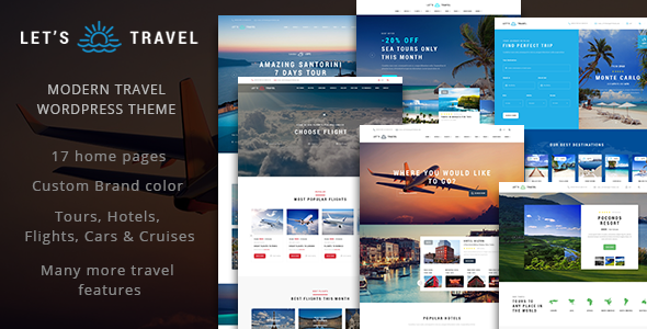Let's Travel – Complete Travel Booking Theme