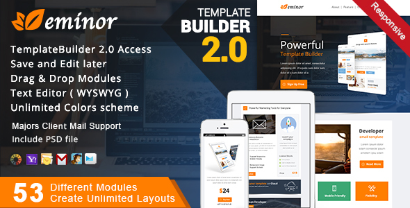 Multimail | Responsive Email Template Set + Builder Online - 13