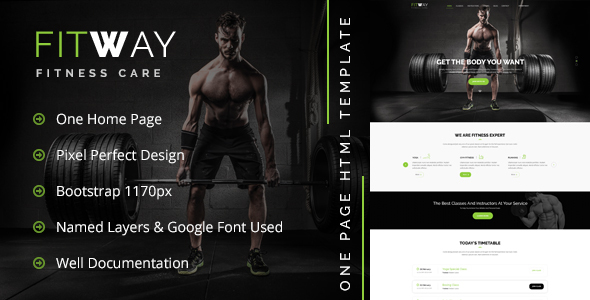 FITWAY - Gym & Fitness - Retail PSD Templates