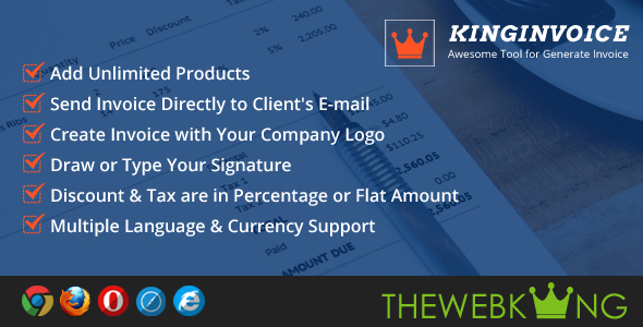 KingInvoice - Awesome Tool for Generate Invoice - CodeCanyon Item for Sale