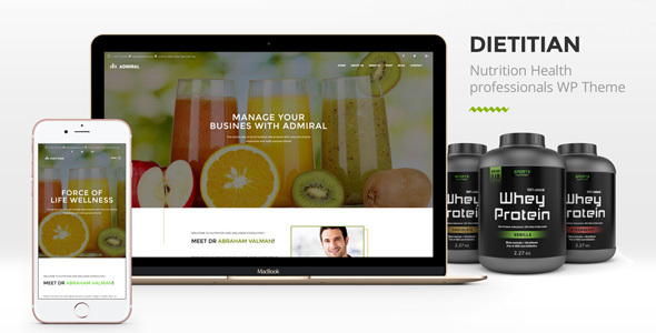 Dietitian - Nutrition Health professionals WP Theme