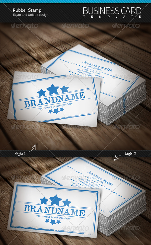 Rubber Stamp Business Card by artnook | GraphicRiver