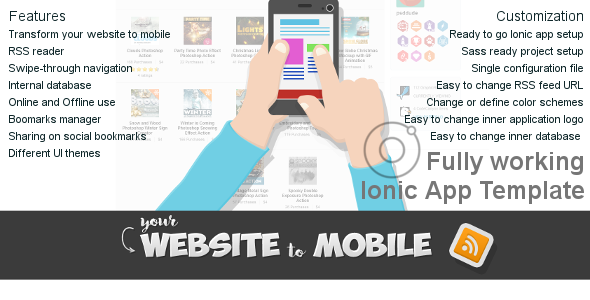 Website to Mobile Ionic Application Template - CodeCanyon Item for Sale