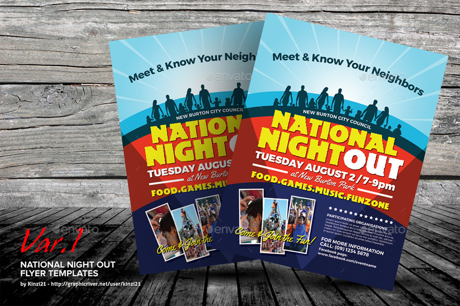 national night out flyer templates by kinzi21