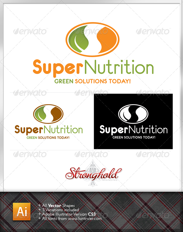 Super Nutrition Logo - Nature Logo Templates