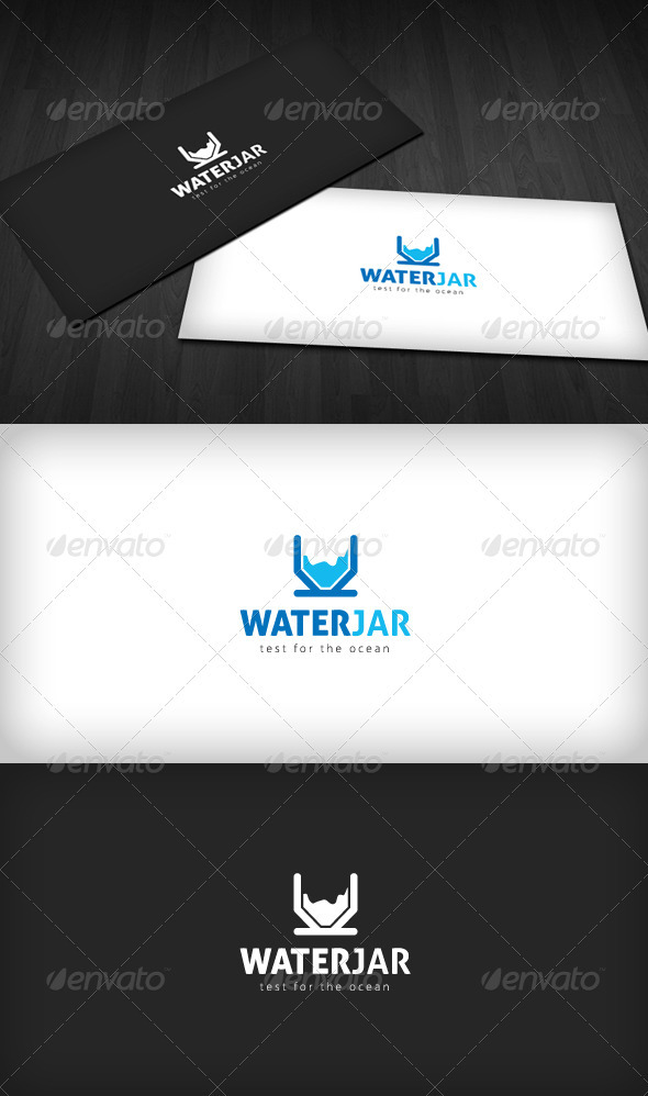 Water Jar logo - Vector Abstract
