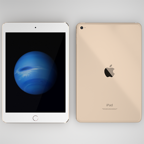 iPad Mini 4th generation in all three colors - 3DOcean Item for Sale
