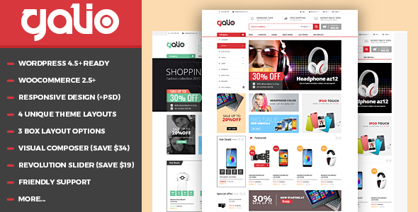 VG Galio – Mega Shop Responsive WooCommerce Theme