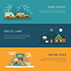 RV Camping Auto Travel Banners - GraphicRiver Item for Sale