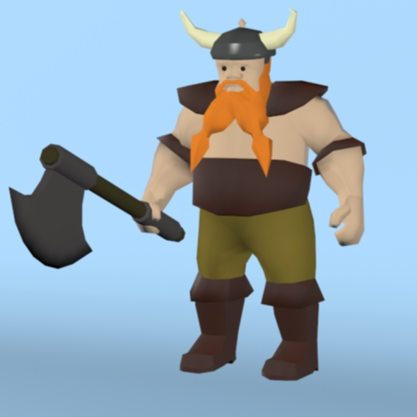 Viking Soldier - 3DOcean Item for Sale