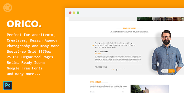 Orico – Creative & Architect Agency WP Theme