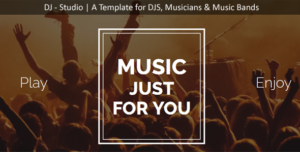 DJ Studio - DJ's, Music Band, Muscians One Page Template - Music and Bands Entertainment