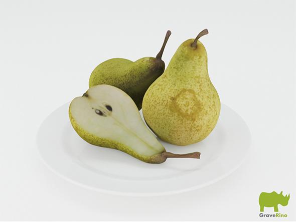 Pears 3D Model - 3DOcean Item for Sale