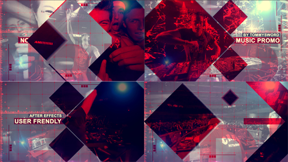 Music Promo By TommySword VideoHive - Music video template after effects