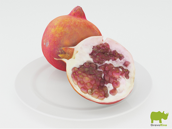 Pomegranates 3D Model - 3DOcean Item for Sale
