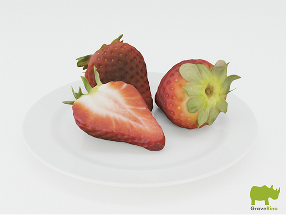 Strawberries 3D Model - 3DOcean Item for Sale