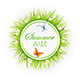 Summer Sale on Grass Background - GraphicRiver Item for Sale