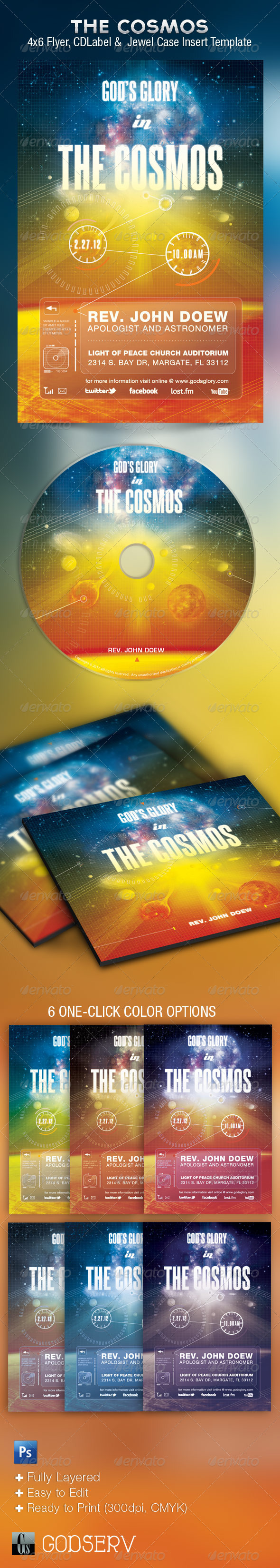 Glory Church Flyer CD Template - Church Flyers