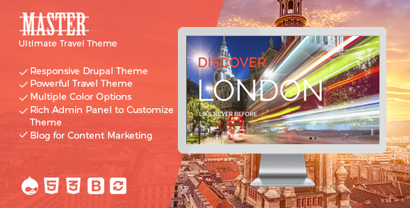 Master – Ultimate Travel Theme for Drupal
