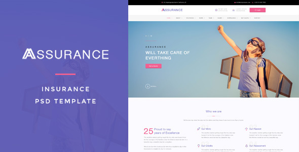 Assurance - Insurance PSD Template - Business Corporate