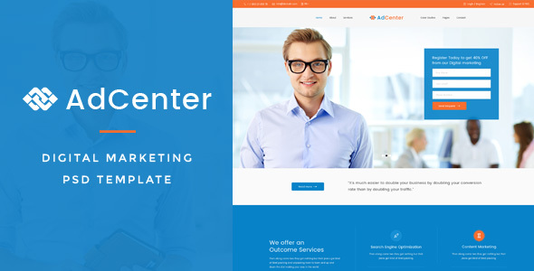 Adcenter – Digital Marketing PSD Template