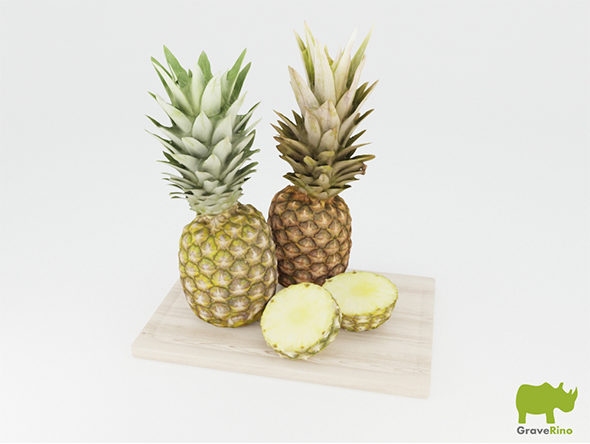 Pineapples 3D Model - 3DOcean Item for Sale