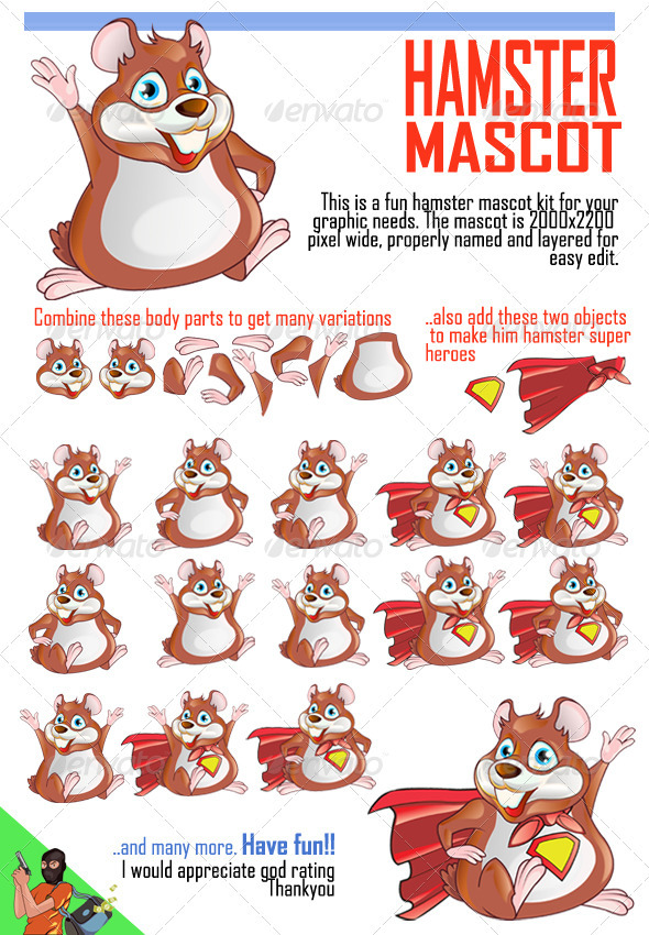Hamster Mascot - Animals Characters
