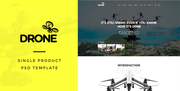 Drone : Single Product PSD Template - Shopping Retail