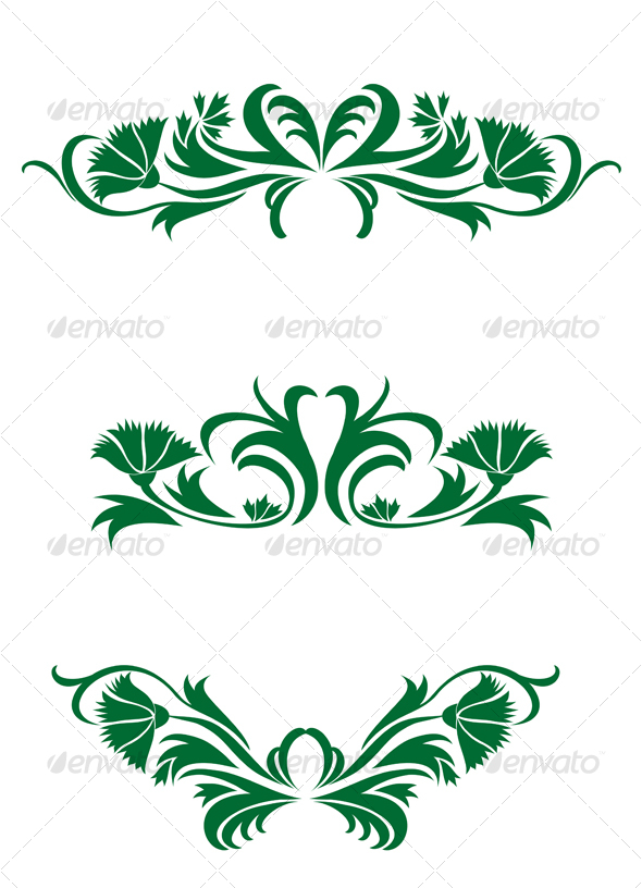 Flourish decorations - Flourishes / Swirls Decorative