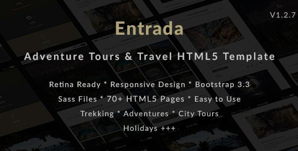 Tour & Travel HTML Template for Tour Agency - Entrada