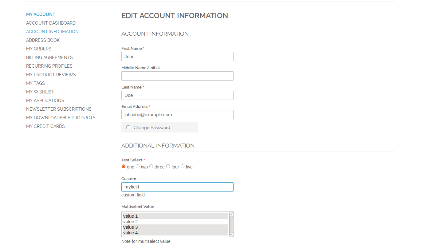 Custom Registrationcheckout Fields Manager Magento Extension By