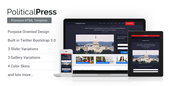 Political Press - HTML Template - Political Nonprofit