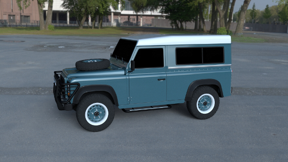 Land Rover Defender 90 Station Wagon HDRI - 3DOcean Item for Sale