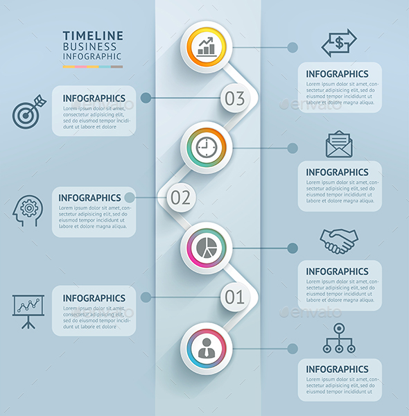Business Timeline Infographics Template By Graphixmania  Graphicriver