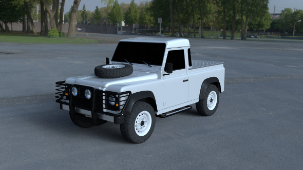 Land Rover Defender 90 Pick Up HDRI - 3DOcean Item for Sale