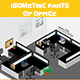 Isometric Parts of Office - GraphicRiver Item for Sale