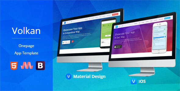 Volkan - Onepage HTML App Template - Software Technology