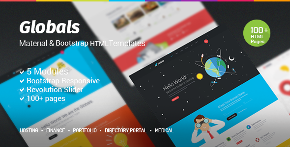 Globals – Material & Bootstrap HTML Template