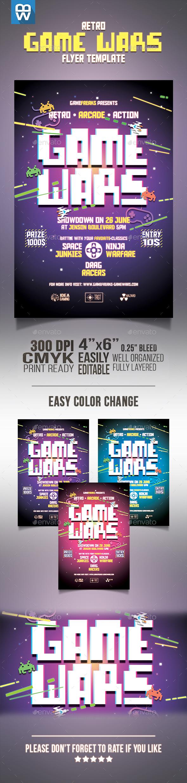Retro Game Wars Flyer