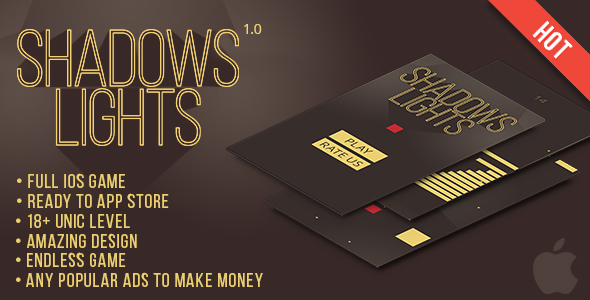 Shadows and lights iOs Game - CodeCanyon Item for Sale