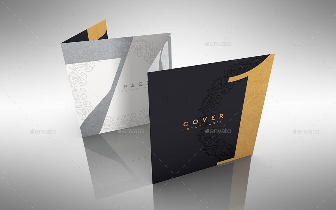 Accordion Square Flyer Or Brochure By Ina717 Graphicriver
