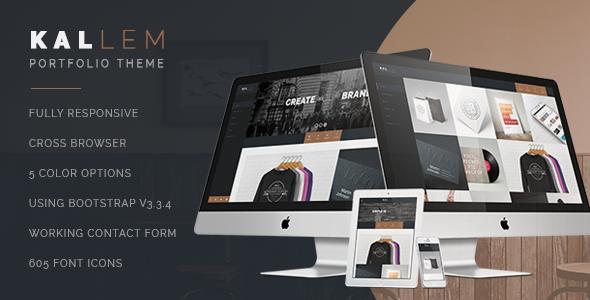 Kallem – HTML Portfolio template