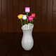 Rose in Vase - 3DOcean Item for Sale