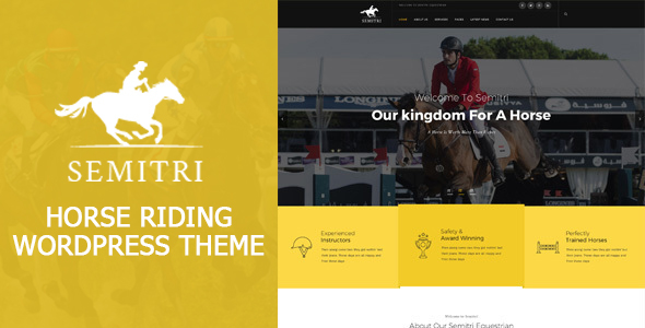 Semitri – Horse Riding Professional Saddle up & Promote WordPress Theme